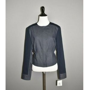 DONCASTER NEW Chambray Full Zip Cropped Jacket